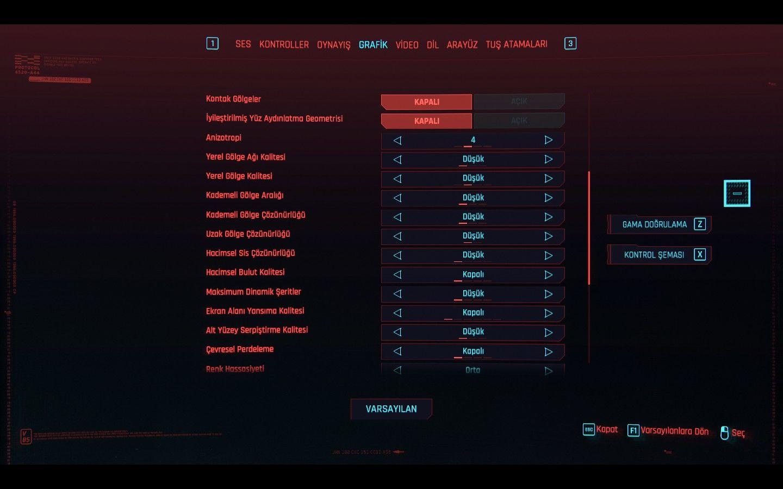 Cyberpunk 2077 FPS artırma rehberi - Düşük FPS sorunu çözümü